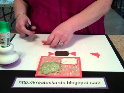 Stampin' Up! Decorative Label Shadow  - KreatesKards Tutorial