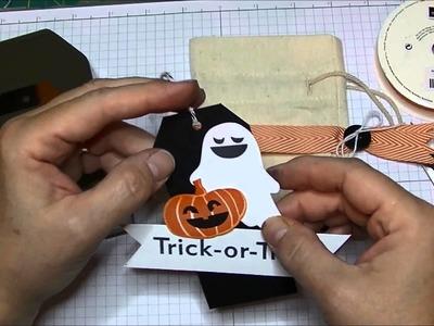 Stampin' Up! Halloween Muslin Treat Bags
