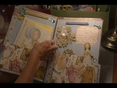 Vintage Holly Hobbie Paper Doll File Folder Mini Album