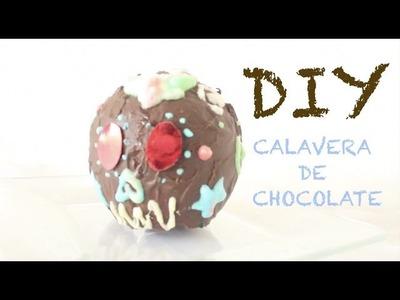 DIY-CALAVERA DE CHOCOLATE SIN MOLDE