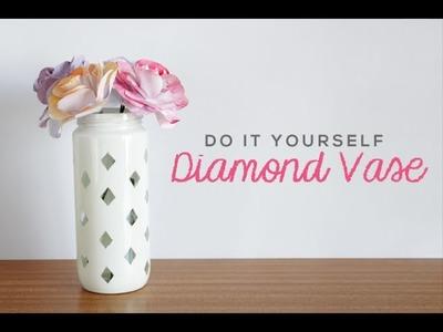 DIY Diamond Vase