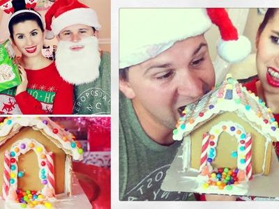 DIY Gingerbread House Ft. My Fiance David!
