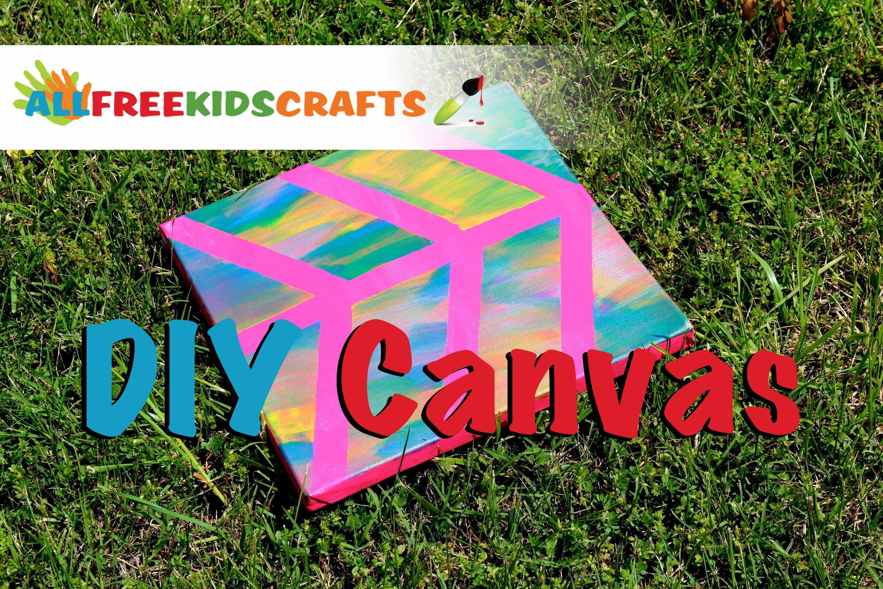 DIY Painted Canvas: Easy Canvas Craft for Kids