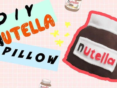 DIY Room Decor • Nutella Pillow (No Sew) • heartcindy