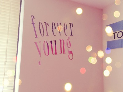 DIY | Tumblr Inspired Wall Quote ♡
