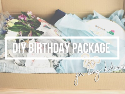 How To Mail A Present: DIY Birthday Package for Faraway Friends! | floreign