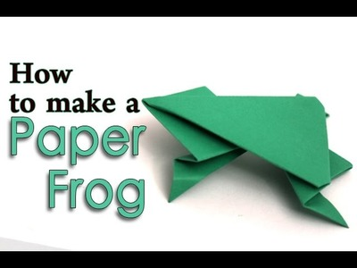 How To Make a Paper Jumping Frog | DIY Easy Origami For Kids