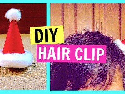 How to Make a Santa Hat Hair Clip | Christmas DIY