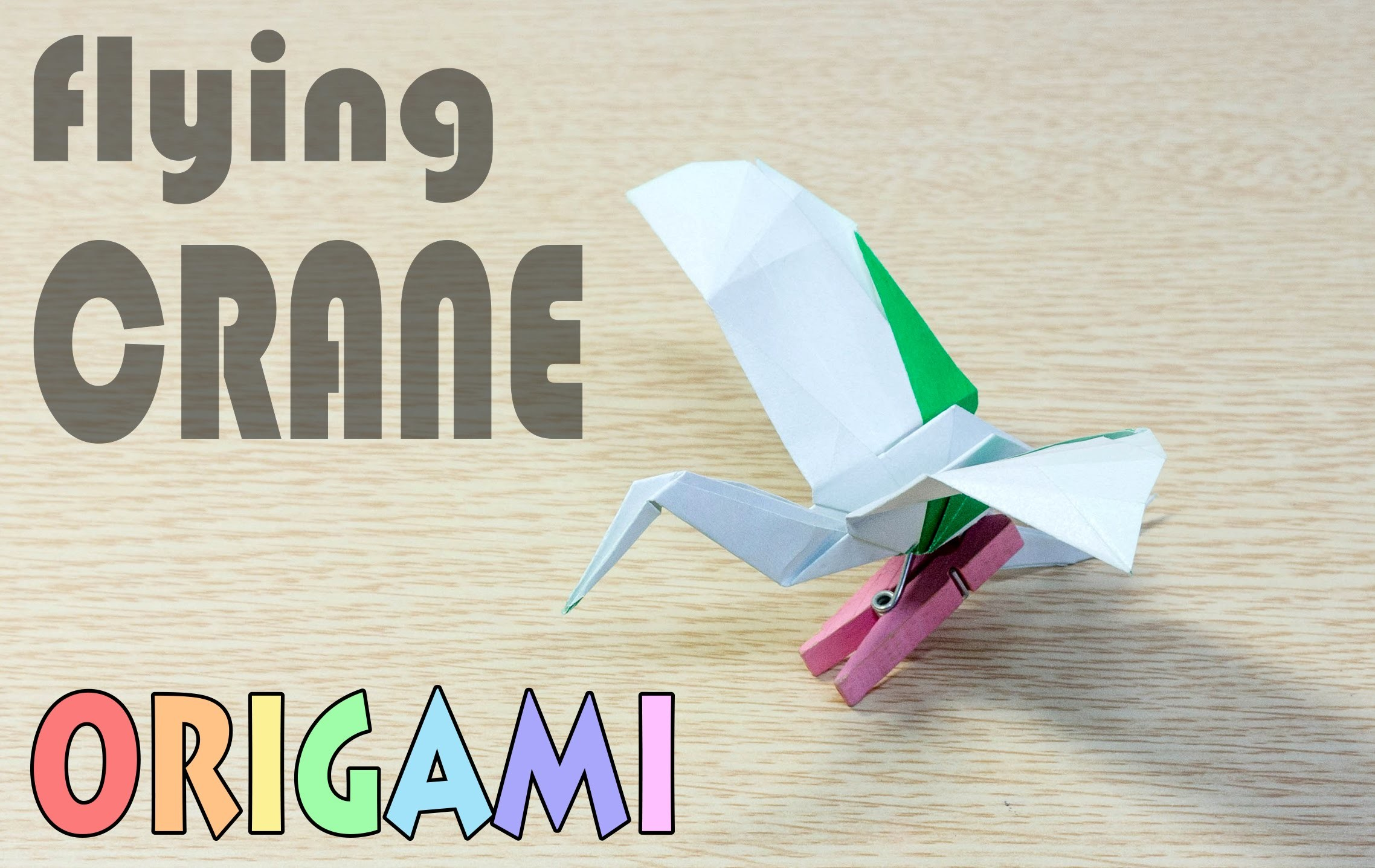 Origami Flying Crane - 4 : Paper Bird Airplane Tutorial