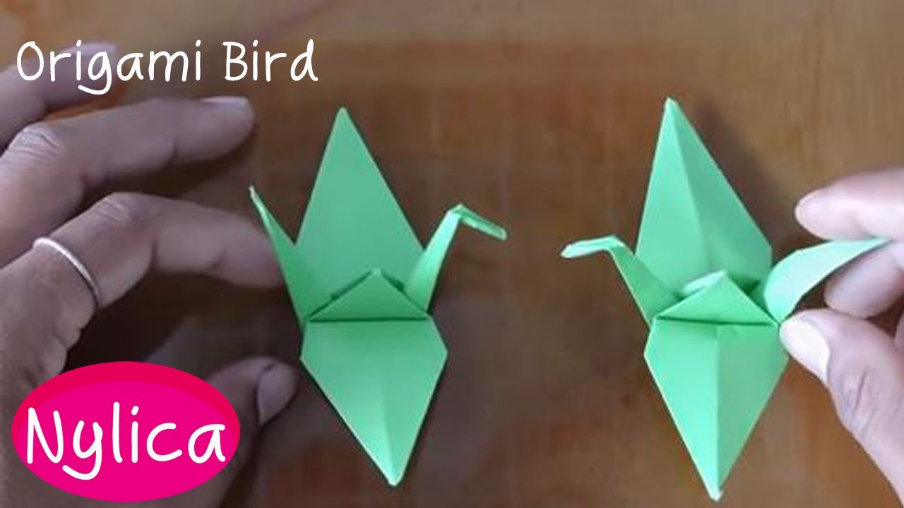 Paper folding bird from beginner | Origami easy for beginners | how to fold a paper bird