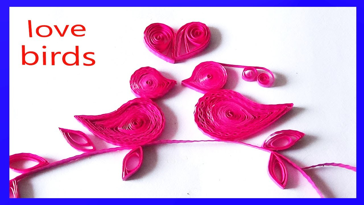 Paper qulling:How to make Beautiful Bird design using Paper Art Quilling -Paper Quilling