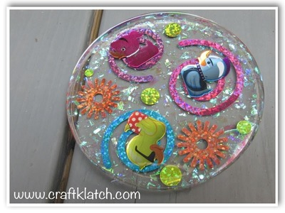 Rubber Duckie Stickers Coaster   Another Coaster Friday DIY