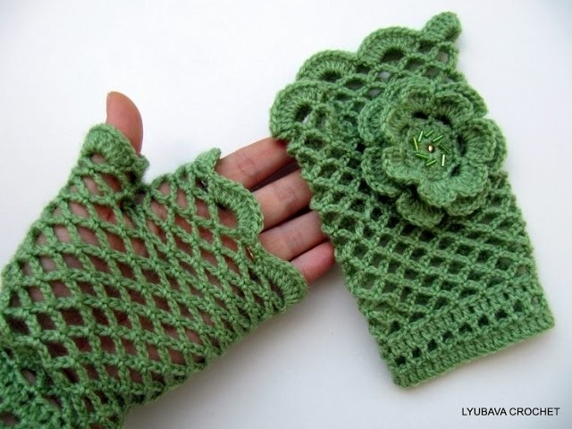 CROCHET FINGER LESS HAND WARMER