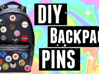 DIY Backpack Pins⎪Tumblr Inspired