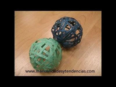 DIY Bolas de rafia. Raffia spheres