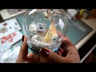 DIY Christmas Project Share~ Waterless Snow Globe, Tinsel and Tags Ornament