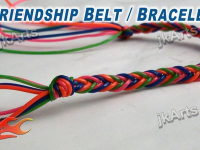 DIY Friendship Belt. Bracelet making JK Arts 268