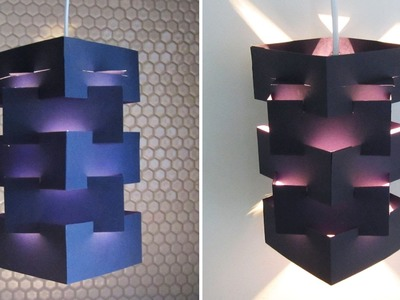 DIY lamp for pendant light - learn how to make a lampshade for hanging lights - EzyCraft