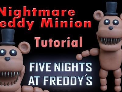 FNaF 4 ★ Nightmare Freddy Mini (Fan-made) Tutorial - Polymer clay ★  Porcelana fria