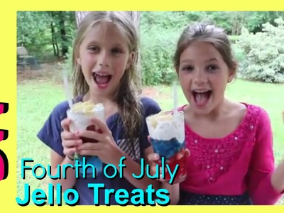 Fourth of July DIY Jello Treats | Easy Summer 4th of July Jello and Fruit | Snack Dessert Recipe
