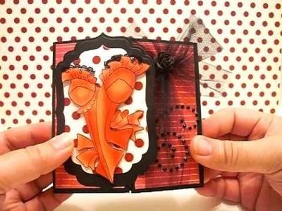 Gatefold Card - Loralie Designs - Corsets 1
