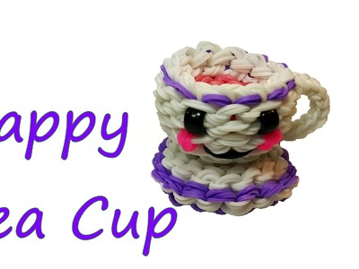 Happy Tea Cup Tutorial by feelinspiffy (Rainbow Loom)