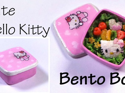 Hello Kitty Inspired Bento. Lunch Box - Polymer Clay Tutorial