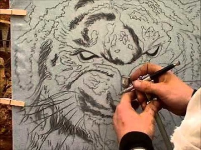 How To Airbrush A Tiger-Part 2