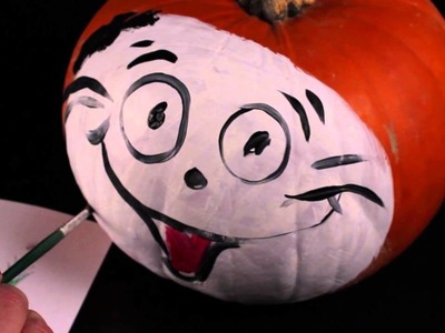 "How to Decorate a ""Cat in the Hat"" Pumpkin : Decorating Pumpkins"