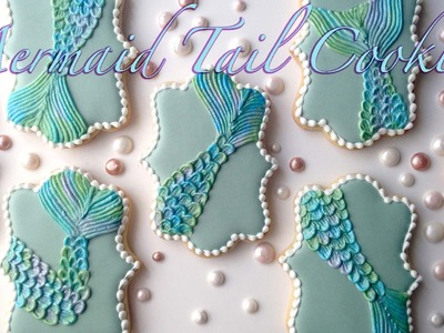 How To Decorate Mermaid Tail Cookies!