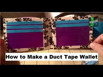 How To Make a Duct Tape Wallet Tutorial!!
