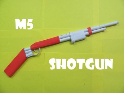 How to Make a Paper M5 Mattle Nickel Shotgun that shoots rubber bands