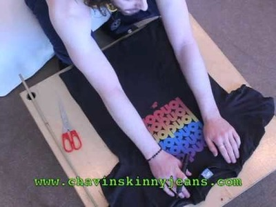 How to make a T-shirt into a Vest Tutorial - Chav In Skinny Jeans
