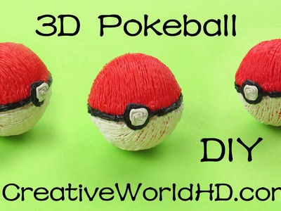 How to Make Pokeball 3D(PoKemon) - 3D Printing Pen Creations. DIY Tutorial