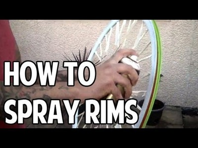 How To Spray Your Bicycle Rims