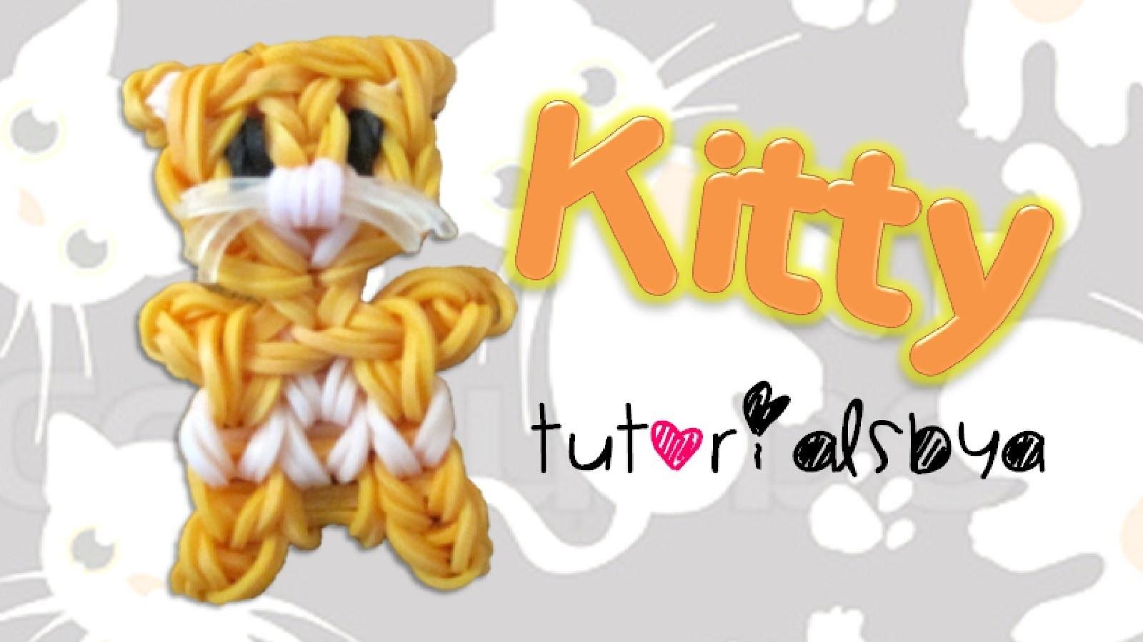Kitty Cat Charm.Mini Figurine Rainbow Loom Tutorial