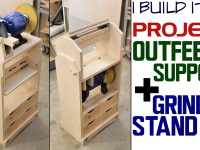 Making A Grinder Stand. Outfeed Stand