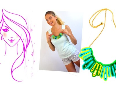MORENA DIY: HOW TO MAKE FELT NECKLACE MULTICOLOUR