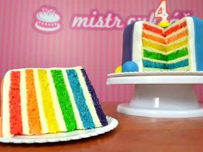 Rainbow Cake - HOW TO TUTORIAL