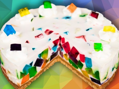 Rainbow Jello Cake from Cookies Cupcakes and Cardio