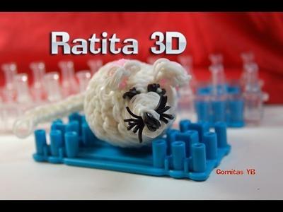 Rata, Ratita 3D con gomitas. Rat. Mouse. Rainbow Loom.