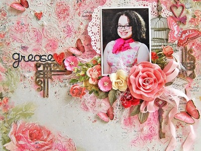 Shabby Chic-Mixed Media layout-My creative Scrapbook
