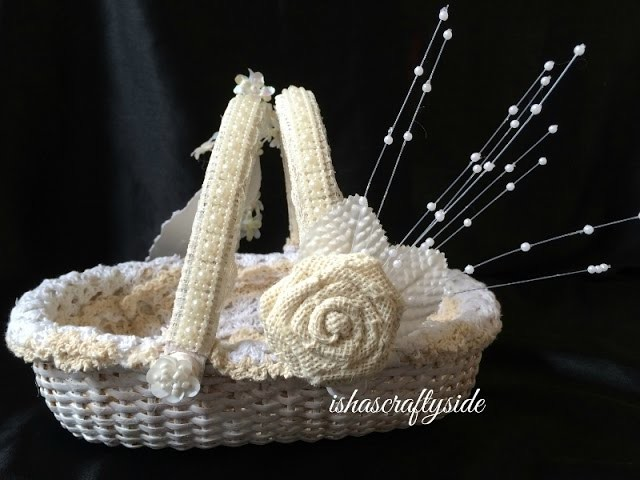 Shabby Chic Wedding Gift Basket - Start to Finish