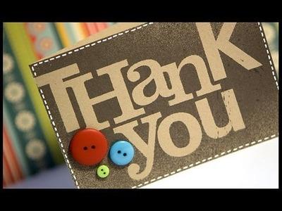 Thank You (alpha sticker masking) - Make a Card Monday #74