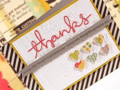 Thanks (Blog Inspired Design) - Make a Card Monday #156