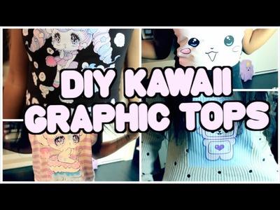 DIY Kawaii Graphic Tops