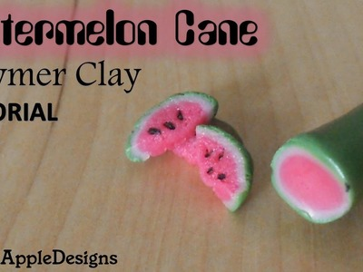 EASY Polymer Clay Watermelon Cane Tutorial