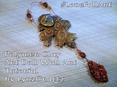 Polymer Clay Art Doll Wall Art #LoveFallArt