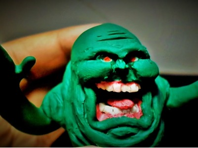 """Polymer Clay Build #2 Ghostbusters """"Slimer Ghost"""""""