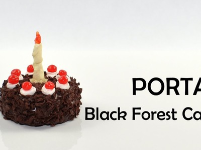 Portal: The Cake is A Lie - Black Forest Cake polymer clay TUTORIAL